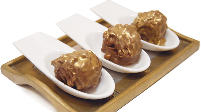Rocher oro de chocolate