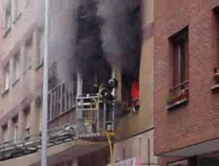INCENDIO EN GIJON