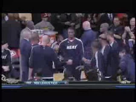 LeBron James skips player introductions -- Miami H